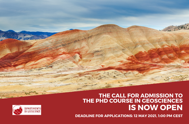 Collegamento a The call for admission to the Doctoral Course in Geosciences for the Academic Year 2021/2022 is now open
