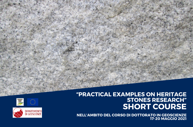 """Collegamento a Short course """"Practical examples on heritage stones research"""""""